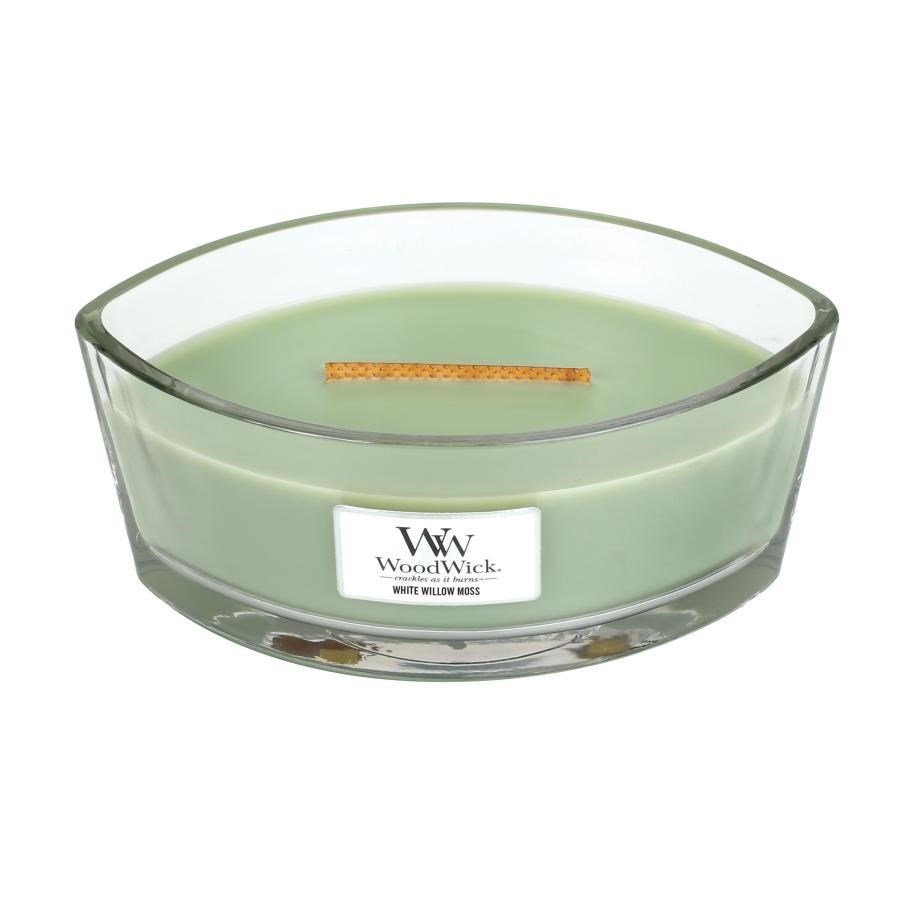 Woodwick Hearthwick Flame - White Willow Moss
