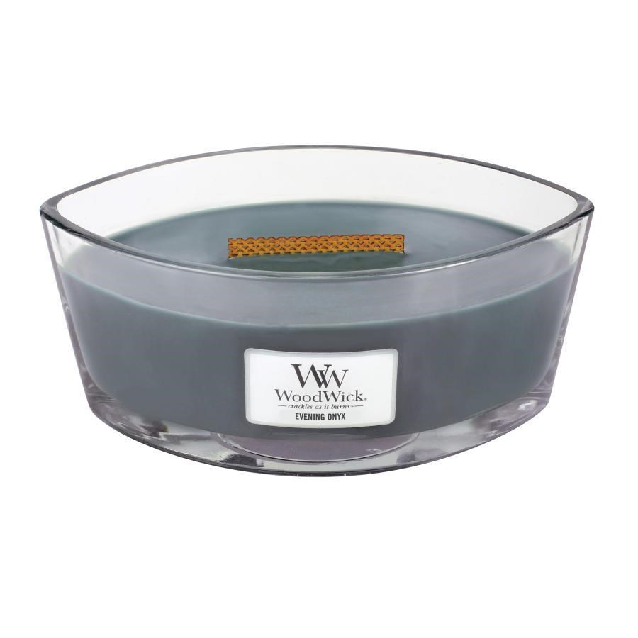 Woodwick Hearthwick Flame - Evening Onyx