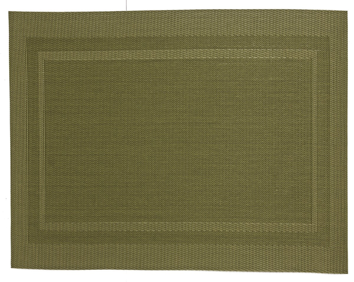 ABERT Placemat 45x30 cm pvc/pet green anice big rectangl