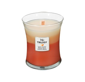 Woodwick Świeca Trilogy średnia-Citrus Burst (Lemon Chiffon  Orange Grove  Valencia Orange)