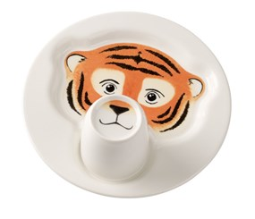 Villeroy&Boch Animal Friends Talerz z Kubkiem Tygrys