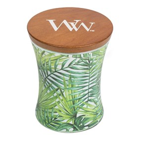Woodwick Średnia Świeca - Illustrated - Palm Leaf