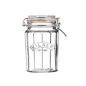 KILNER Słoik 0,95l, Facetted Clip Top Jar