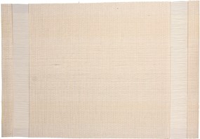 ABERT Placemat 45x30 cm pvc/pet white with 2 side-stripe